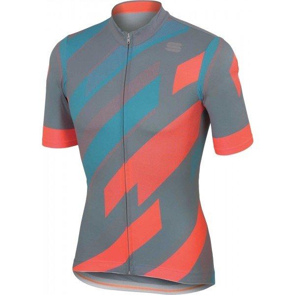 Oranžovo-šedý pánský cyklistický dres Sportful