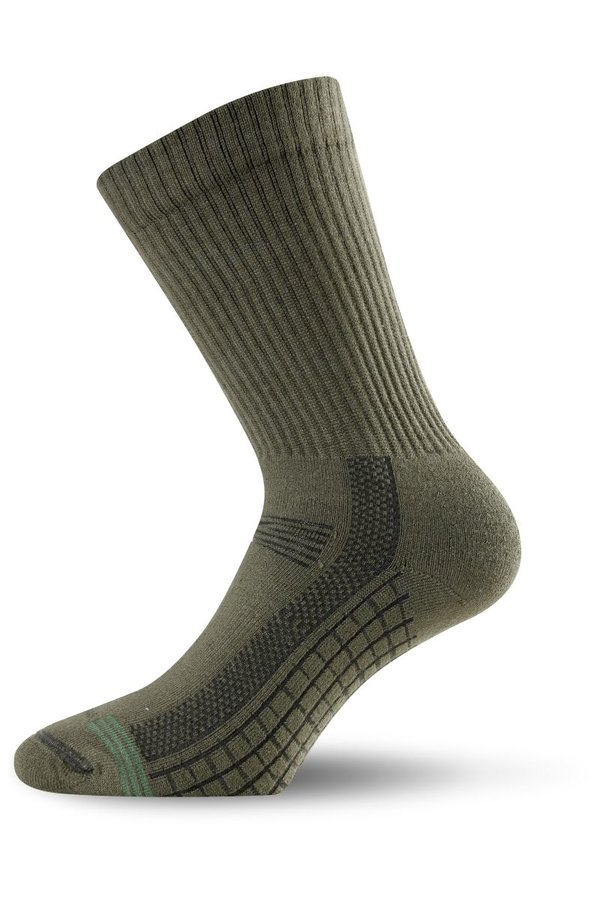 Zelené pánské trekové ponožky Lasting - velikost 46-49 EU