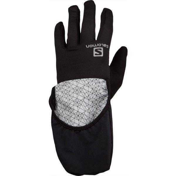 Černo-šedé pánské rukavice na běžky Salomon