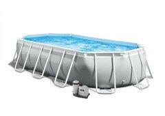 Nadzemní oválný bazénový set INTEX - délka 503 cm, šířka 274 cm a výška 122 cm