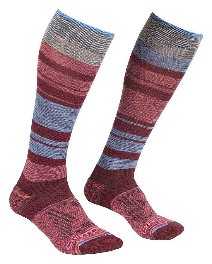 Červeno-modré dámské lyžařské ponožky Ortovox