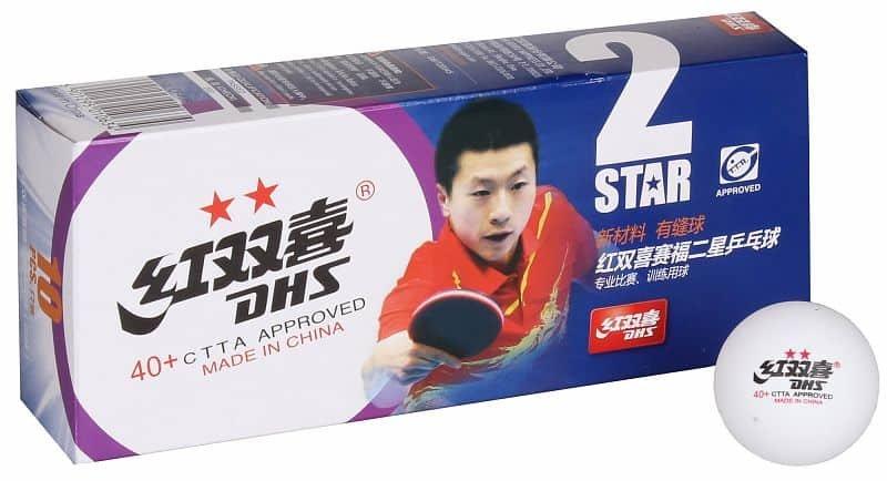 Bílý míček na stolní tenis DHS - 10 ks