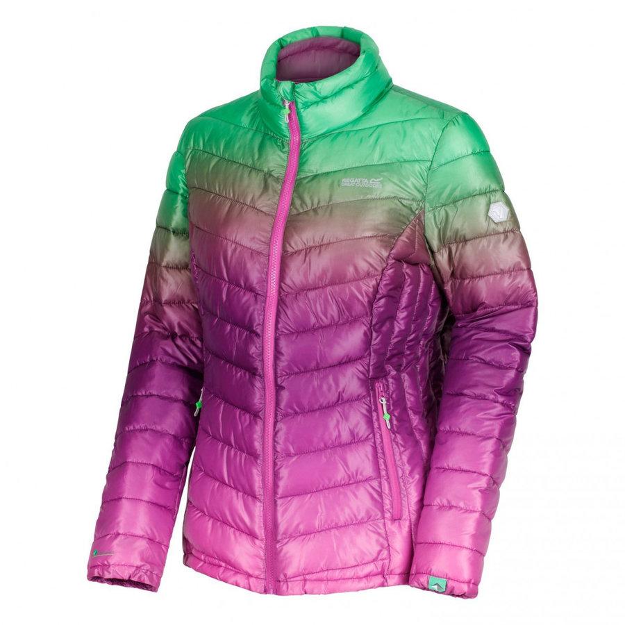 Růžovo-zelená zimní dámská bunda Regatta
