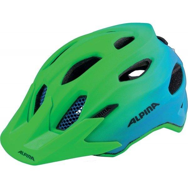 Modro-zelená dětská cyklistická helma Alpina - velikost 51-56 cm