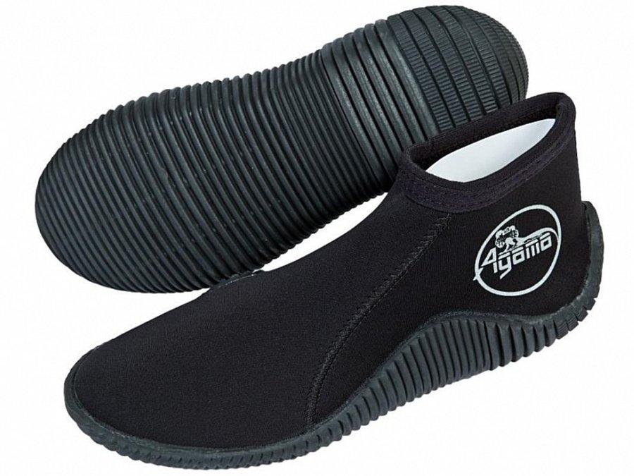 Černé nízké neoprenové boty Rock, Agama