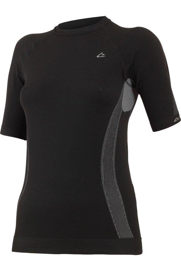 Černé dámské termo tričko s krátkým rukávem Lasting