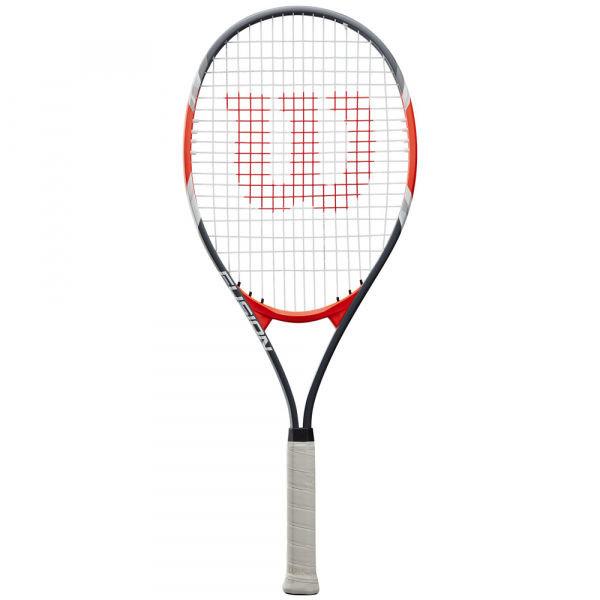 Černo-šedá tenisová raketa Wilson