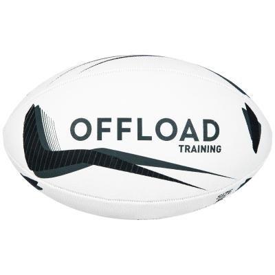 Bílý míč na ragby R300, Offload - velikost 5