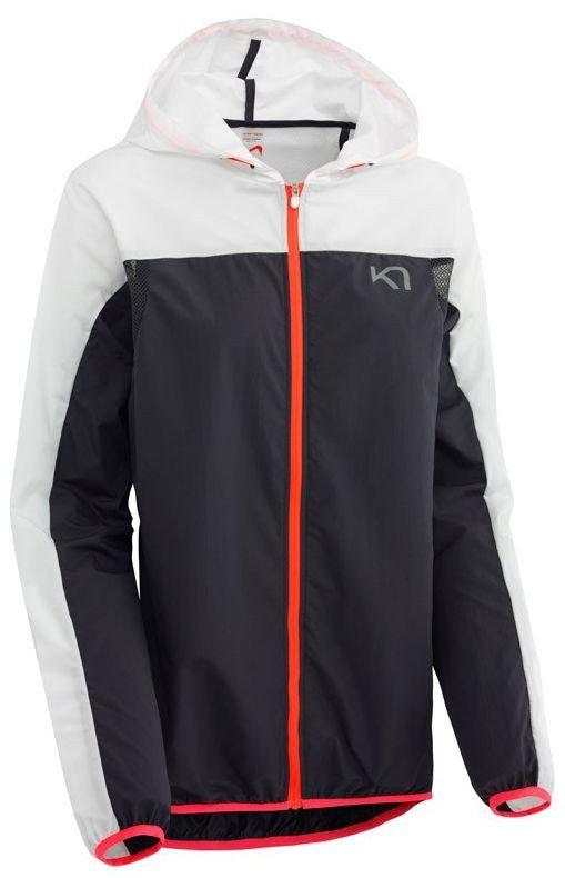 Bílo-černá dámská běžecká bunda s kapucí Marte Jacket, Kari Traa