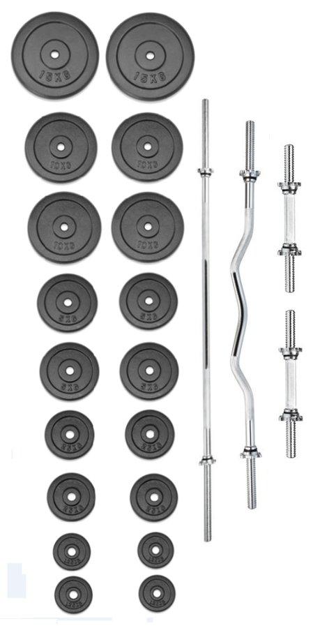 Činkový set - TRINFIT činkový set PREMIUM 130 kg kovový