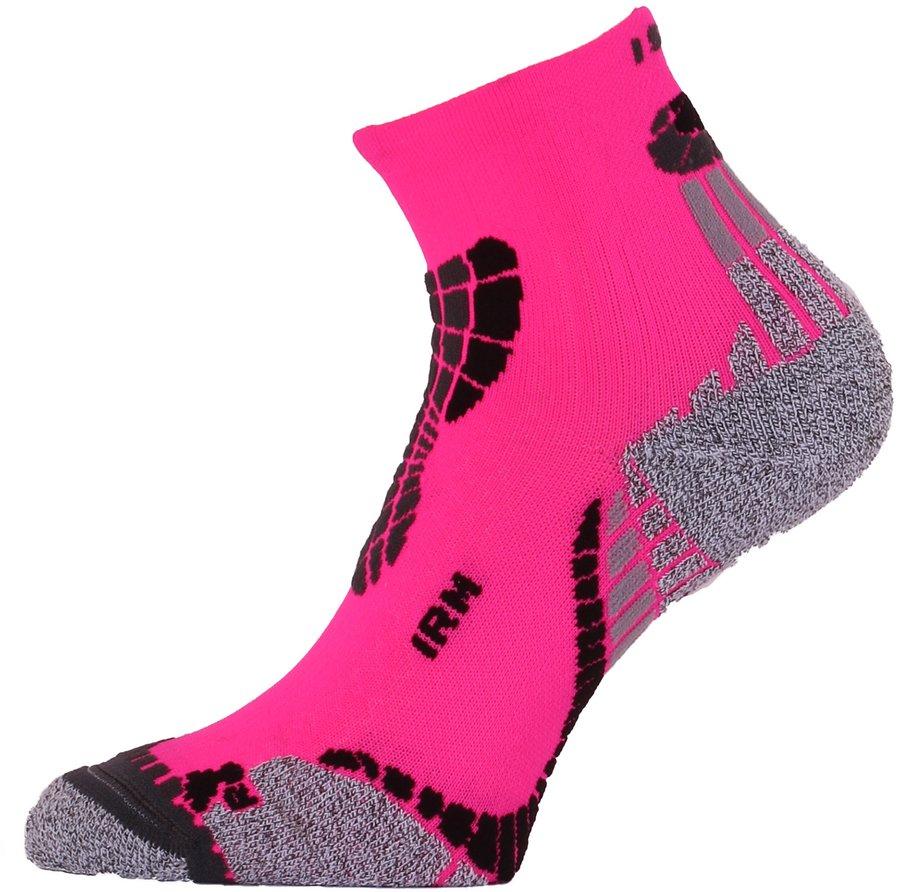 Růžové dámské nebo pánské běžecké ponožky IRM 450, Lasting - velikost 38-41 EU