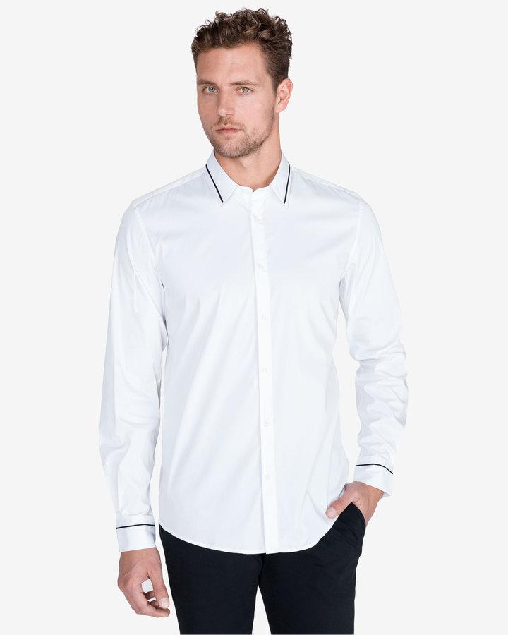 Bílá pánská košile s dlouhým rukávem Antony Morato - velikost XL