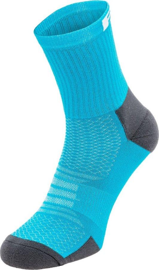 Šedo-tyrkysové cyklistické ponožky R2 - velikost 35-38 EU