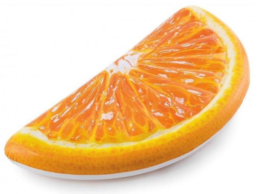 Oranžové nafukovací lehátko Pomeranč INTEX - délka 178 cm a šířka 85 cm
