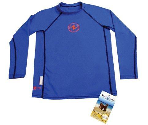 Modré dětské lycrové triko Rash guard junior, Aqualung - velikost 12 let