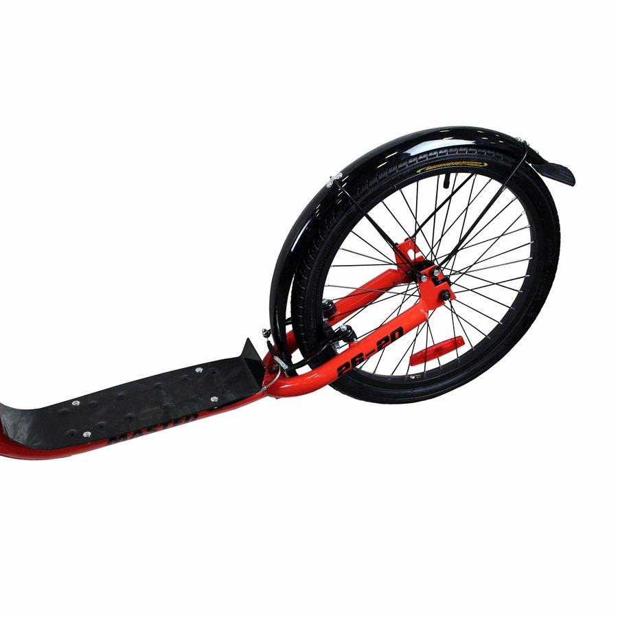 Černo-červená dětská koloběžka Master - nosnost 100 kg
