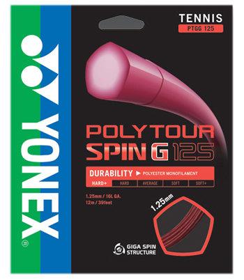 Tenisový výplet Poly Tour Spin G, Yonex - průměr 1,25 mm a délka 12 m