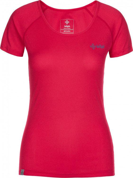 Růžové dámské běžecké tričko Kilpi - velikost 38