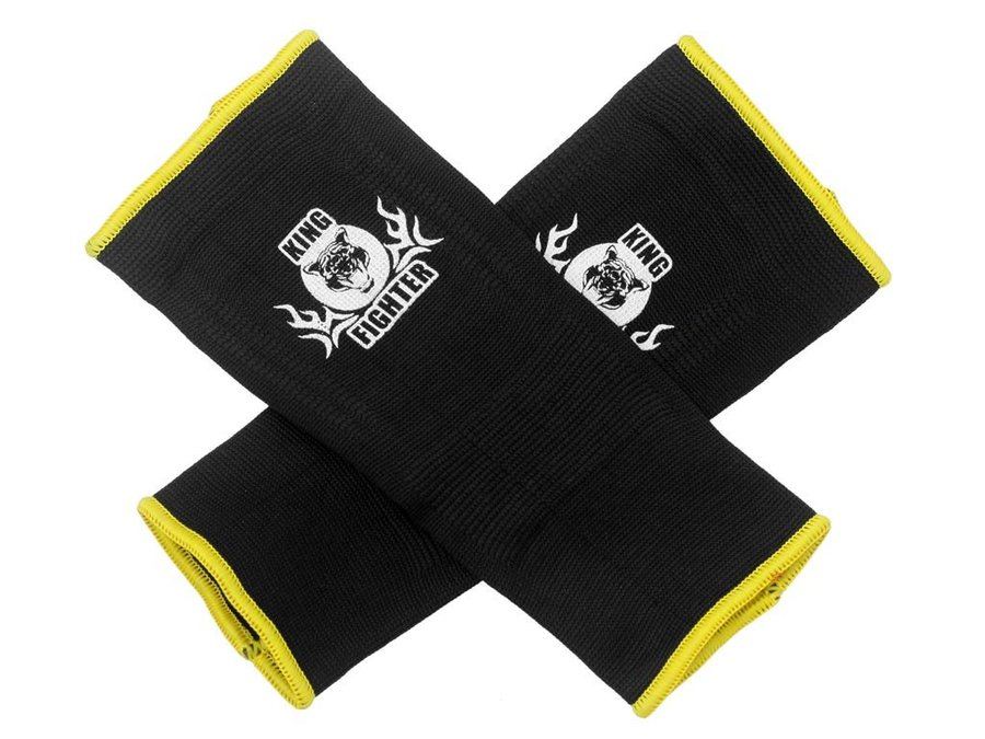 Černo-žluté chrániče na kotník Fighter