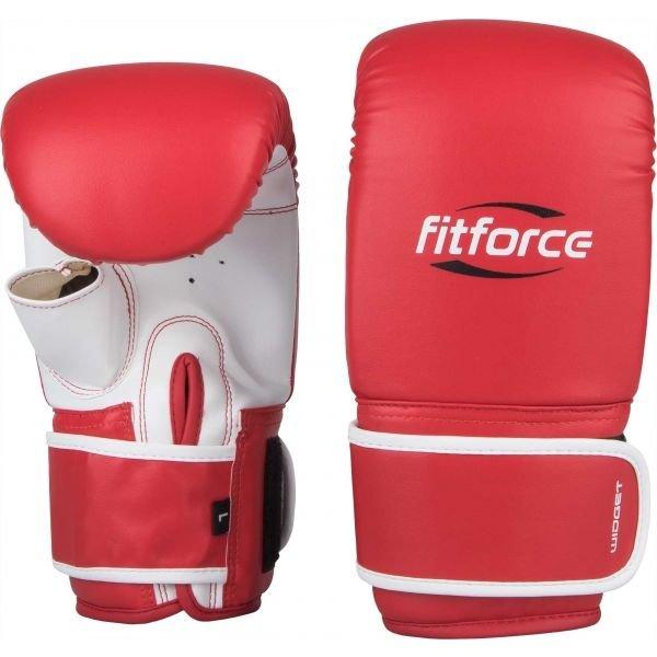 Červené boxerské rukavice Fitforce