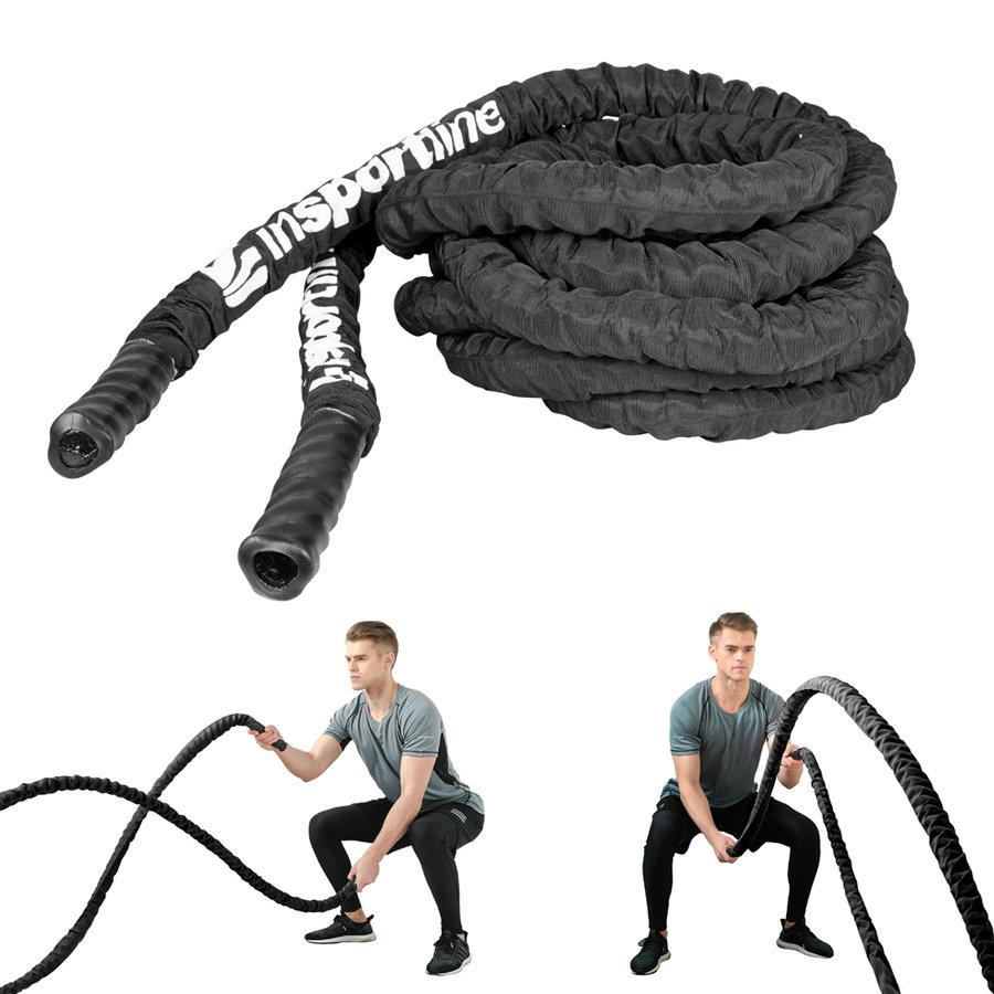 Černé posilovací lano Insportline
