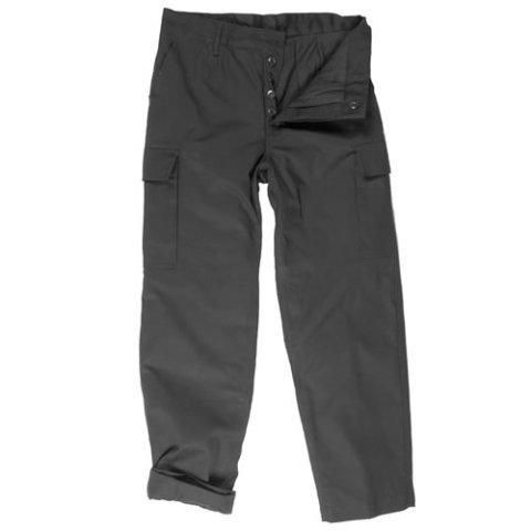 Kalhoty - Kalhoty BW typ moleskin zateplené ČERNÉ