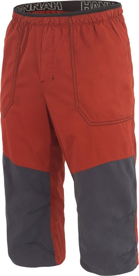 Červeno-šedé pánské kraťasy Hannah - velikost M