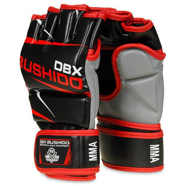 Černo-červené MMA rukavice Bushido