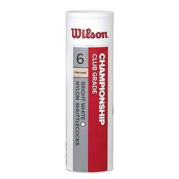 Bílý plastový badmintonový míček Wilson - 6 ks