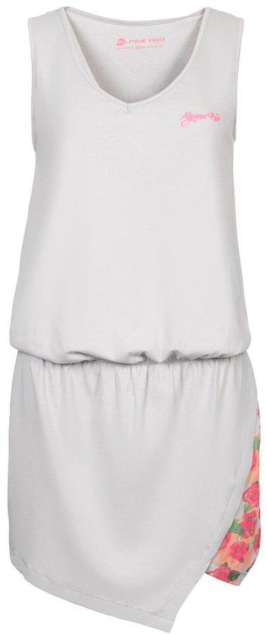 Bílé dámské šaty Yavara 2, Alpine Pro - velikost XS
