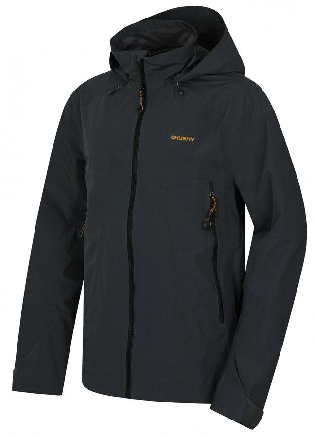 Černá pánská turistická bunda Husky - velikost XL