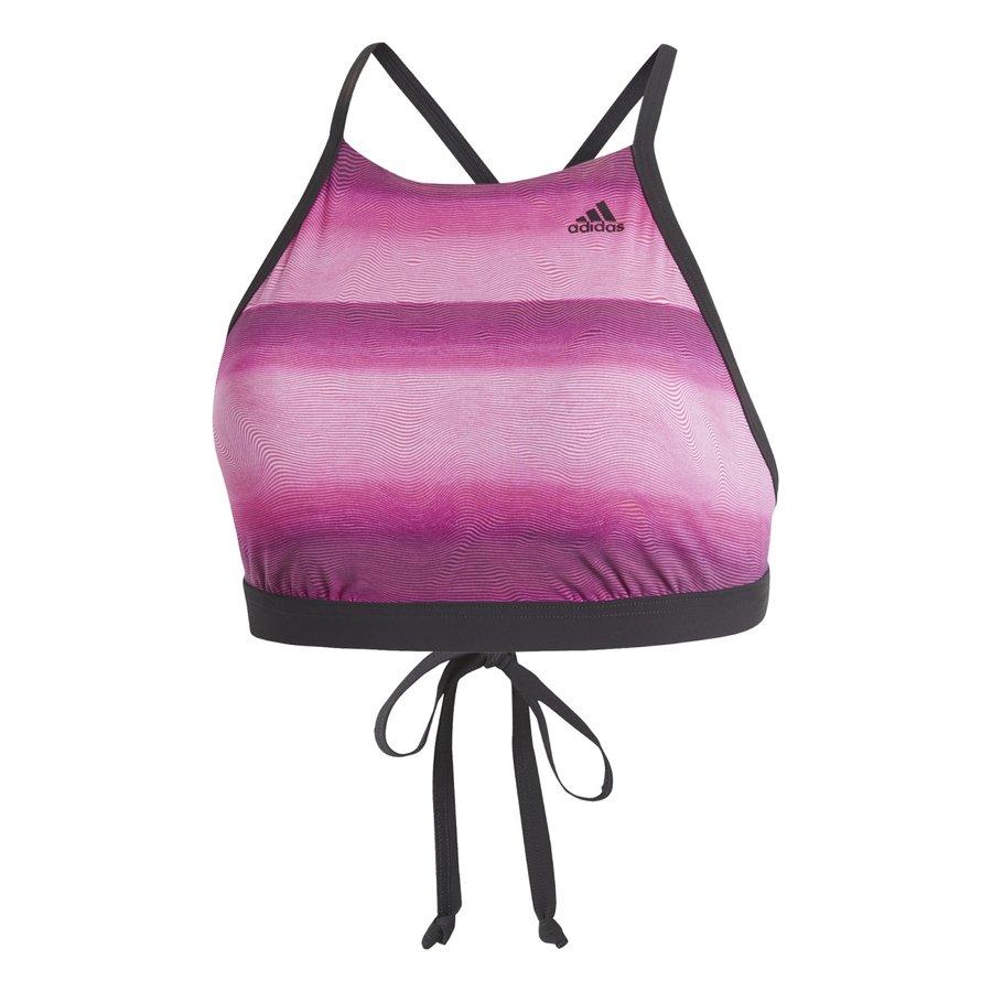 Černo-růžové dámské plavky Adidas - velikost S