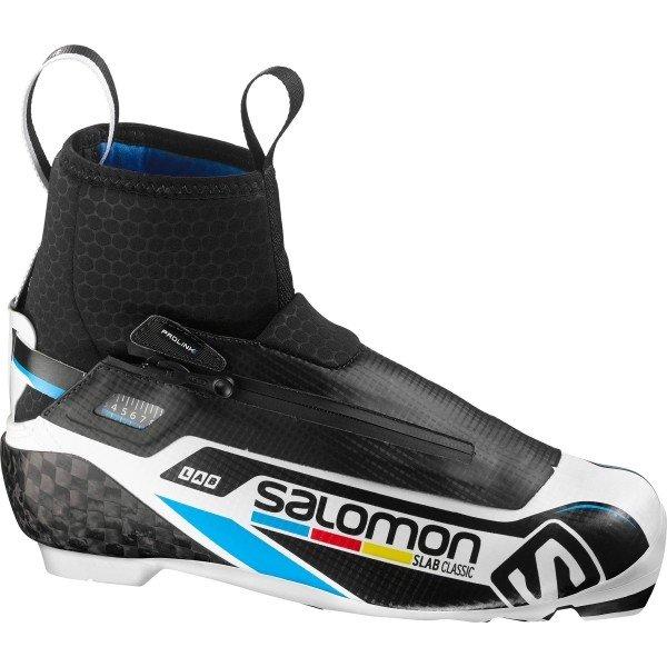 Bílo-černé pánské boty na běžky Salomon - velikost 44 EU