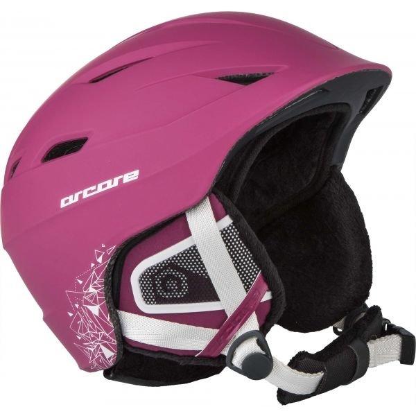 Růžová dámská lyžařská helma Arcore - velikost M-L