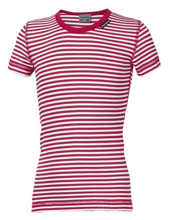 Bílo-červené dětské funkční tričko s krátkým rukávem Progress
