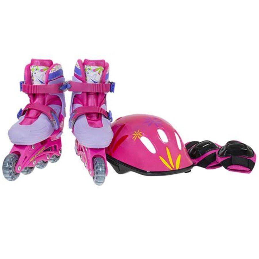 Růžové rekreační dětské dívčí nebo chlapecké kolečkové brusle Nils Extreme - velikost 36-39 EU