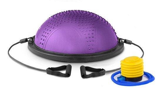 Fialová balanční podložka s gumovými expandéry Hop-Sport