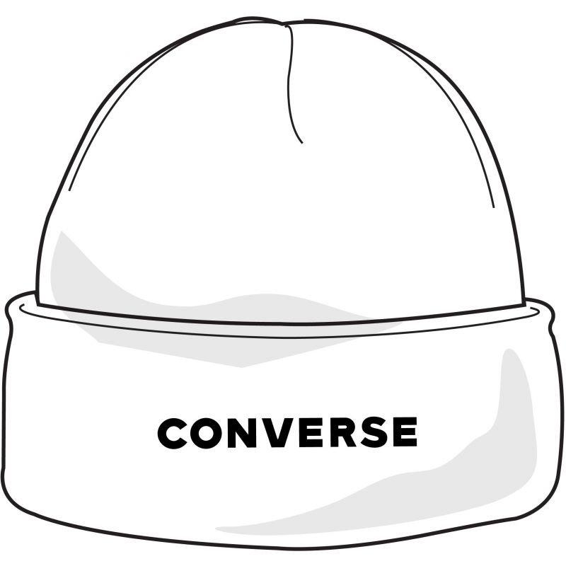 Bílá zimní čepice Converse - univerzální velikost