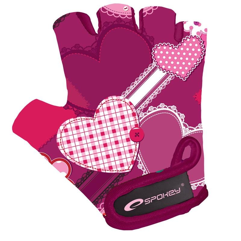 Cyklistické rukavice - SPOKEY - HEART GLOVE Dětské cyklistické rukavice XS