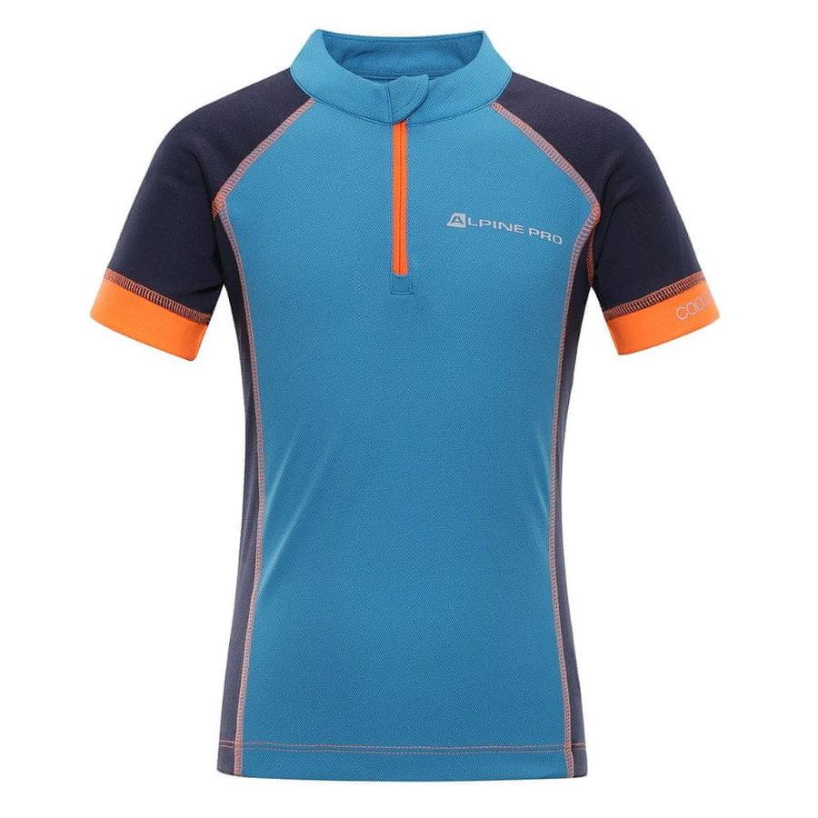 Modrý chlapecký cyklistický dres Alpine Pro