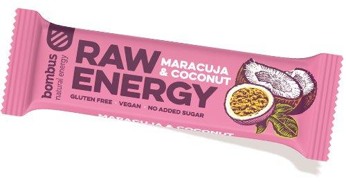 Energetická tyčinka - Bombus RAW Energy Maracuja & coconut 50 g