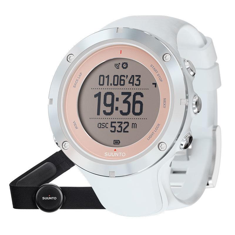 Bílé digitální sportovní chytré hodinky Ambit3 Sport Sapphire (HR), Suunto