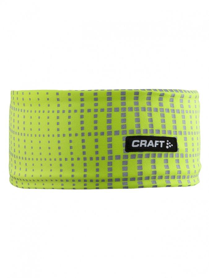 Žlutá běžecká čelenka Brilliant 2.0, Craft - velikost L-XL