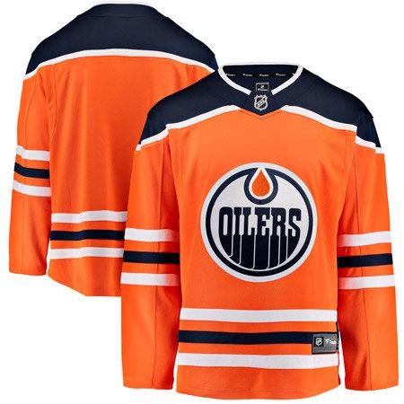 Oranžový hokejový dres Fanatics - velikost L