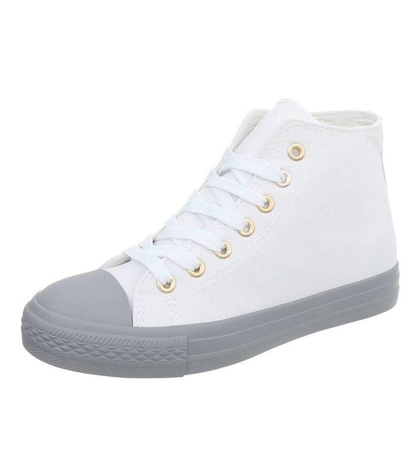 Bílo-šedé dámské tenisky