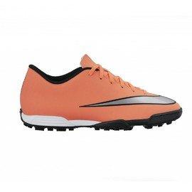 Oranžové kopačky turfy MERCURIAL VORTEX II TF, Nike - velikost 44,5 EU