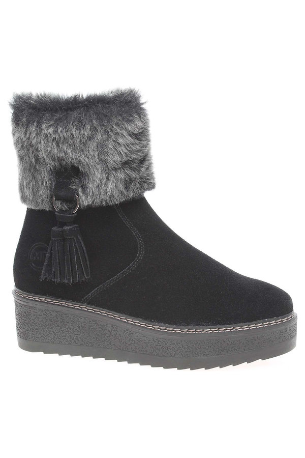 Černé dámské zimní boty Marco Tozzi - velikost 40 EU