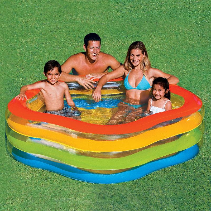 Nafukovací dětský pětiúhelníkový bazén INTEX - délka 185 cm, šířka 180 cm a výška 53 cm