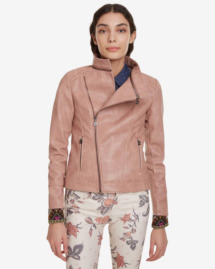 Růžová dámská bunda Desigual