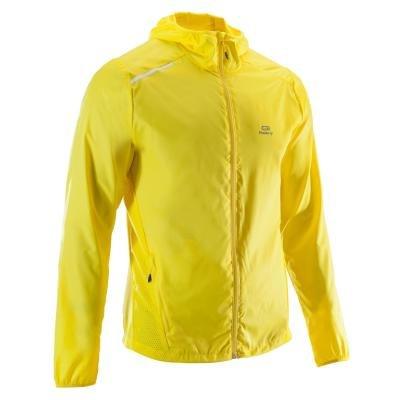Žlutá běžecká bunda Wind, Kalenji